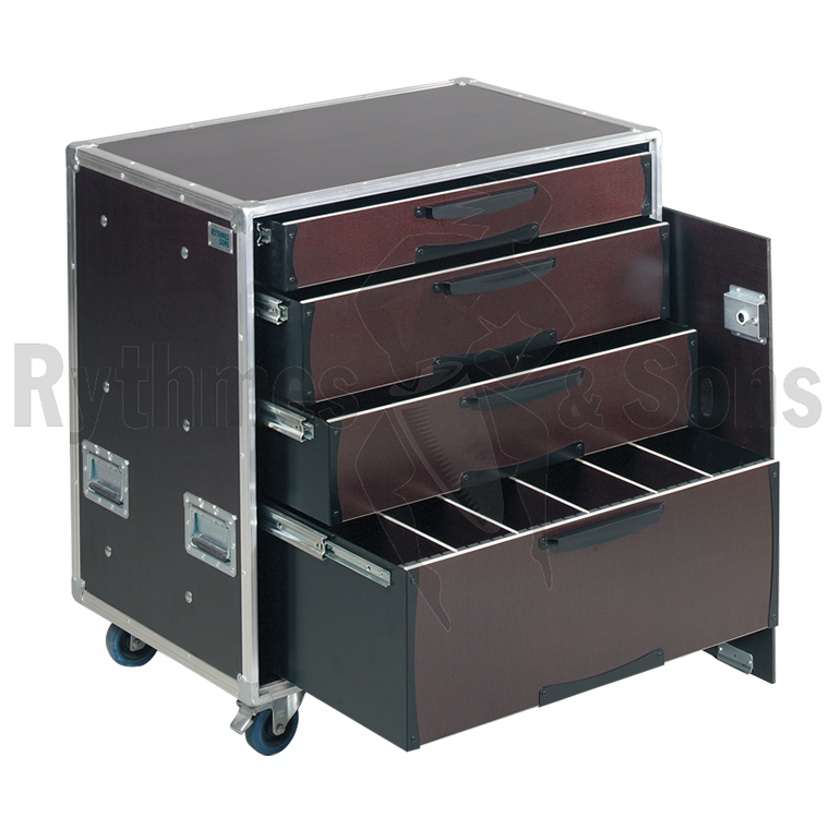 flight case de rangement openroad 4 tiroirs rangements tiroirs flight cases. Black Bedroom Furniture Sets. Home Design Ideas