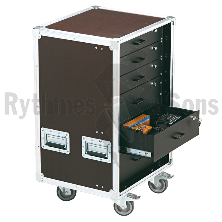 flight case de rangement 19 openroad 16u avec tiroirs rangements tiroirs flight cases. Black Bedroom Furniture Sets. Home Design Ideas