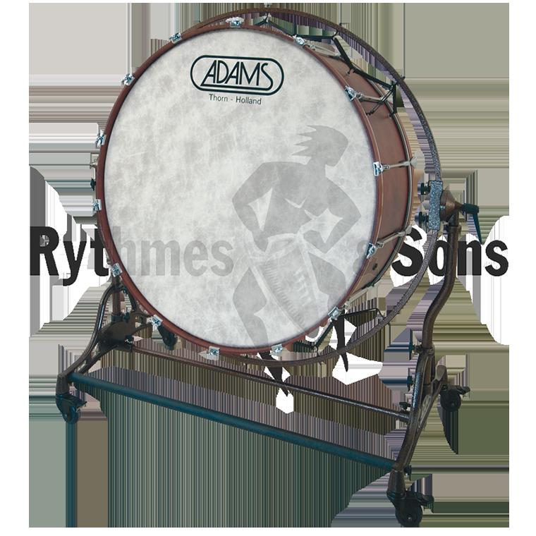 Grosse caisse de concert adams sur stand avec cercle de for Grosse suspension