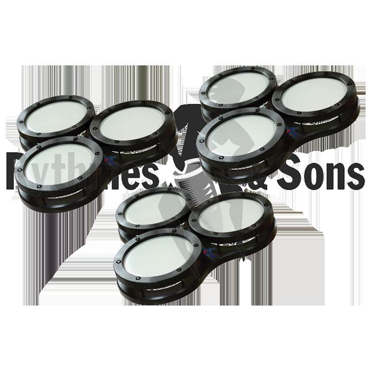 Jeu De 3 Cool Drum Trio 6 Black Edition