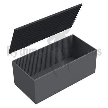 Flight-case - Capitonnage mousse rainurée pour malle 1200x60