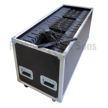 Flight case 30 éclairages 24 LED R&S