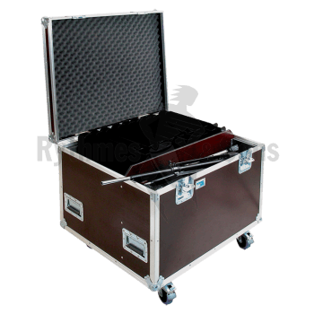 Flight case 20 pupitres « Orchestra » simple rebord