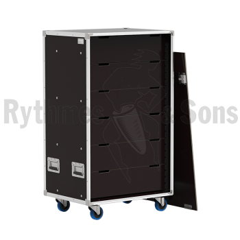 Flight-case - Rack à bac 800x600xH800 pour 24 postes de c-1