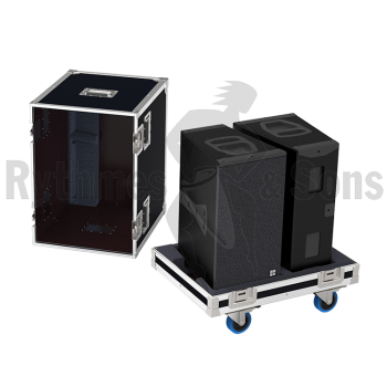 Flight-case 2 enceintes Q1/Q7/Q10 D&B-1