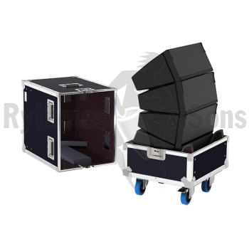 Flight-case 4 enceintes T10 D&B en grappe