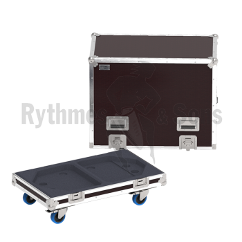 Flight-case 2 enceintes DXR15 YAMAHA