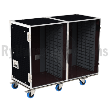 Flight-case - Rack à bacs OpenRoad® double 1100x600xH800 -1