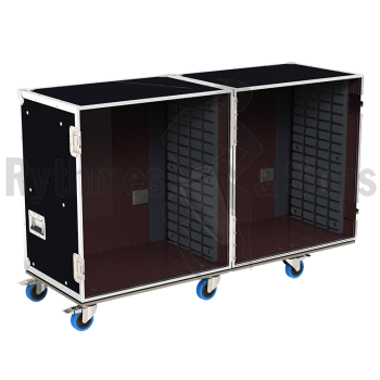Flight-case - Rack à bacs OpenRoad® double 1100x800xH800 -1