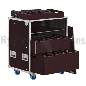 Flight-case - Rack à bacs OpenRoad® 800x600xH800 avec tir-1
