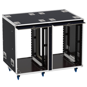 Flight-case - Rack 19' OPENTOP® suspendu 2x16U prof. 700m-1