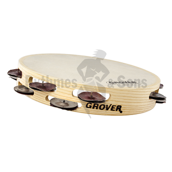 Percussions - Tambourin GROVER Ø10'/26cm Argent Hybride-1