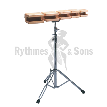 Percussions - Jeu de 5 temple blocks CADESON + stand-1