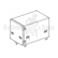 Flight case for vibraphone Yamaha 1600 3 oct. assembled