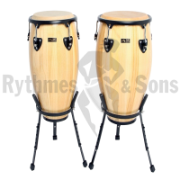 Pair of CLUB SALSA Ø10'+11' congas - separate baskets