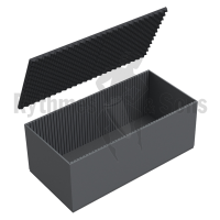 Flight-case - Capitonnage mousse rainurée pour malle 800x600
