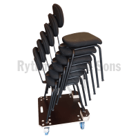 RYTHMES & SONS Wheels board for 6 Orchestra chairs H47cm
