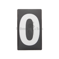 Adhesive label Nr 0 H100 Grey/black