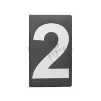 Adhesive label Nr 2 H100 Grey/black