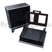 Flight case for GRANDMA3 ONPC COMMAND WING - MA LIGHTING lighting console+VESA100+keyboard