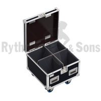 Flight case for 4 optical SOURCE FOUR LED 2 CYCLO/FRESNEL