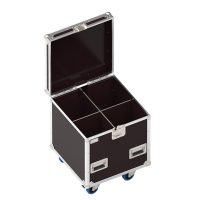 Classic flight case 600x600xH600 for 2x2 spotlights