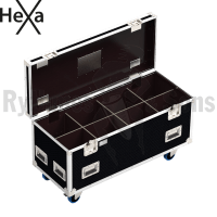 HEXA Classic flight case 1200x500xH500 for 4x2 spotlights