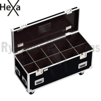 HEXA Classic flight case 1200x500xH500 for 5x2 spotlights