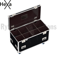 HEXA Classic flight case 1200x600xH600 for 4x2 spotlights