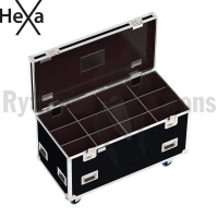HEXA Classic flight case 1200x600xH600 for 4x3 spotlights