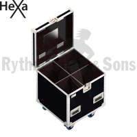 HEXA Classic flight case 600x600xH600 for 2x2 spotlights