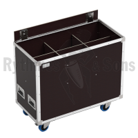 Flight case for 6 LUTINS 306+hooks