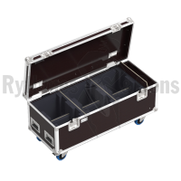 Flight case for 6 moving Heads MAC AURA - MARTIN / MAC AURA XB - MARTIN