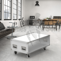 White coffee table 1000x600xH430 with wheels
