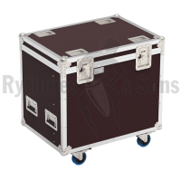 Flight case for 12 flat reflectors
