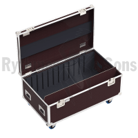 Flight case for 12 trapezoid or parabolic reflectors
