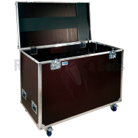 Flight case for 10 acoustic shields