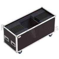 Flight case for 20 R&S Notelight 24 LED lighting + cable