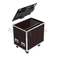 Flight case for 4 makeup modules
