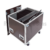 OpenRoad<sup>®</sup> Flight Case for 20 MANHASSET Voyager Music Stands + 1 RYTHMES & SONS (flight-cases) Foldable Conductor Music Stand