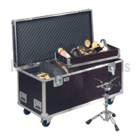 Flight case for percussion accessories