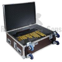Flight case for a dismantled Adams 4 oct xylophone