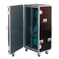 Flight case for 2 cellos in their cases