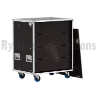 Flight-case - Rack à bac 800x600xH800 pour 18 postes ADN+1 u