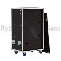 Flight-case - Rack à bac 800x600xH800 pour 24 postes ADN+1 u