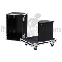 Flight cases 2 loudspeakers MAX15 D&B
