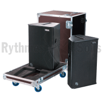 Flight cases 2 loudspeakers PS15-R2 NEXO