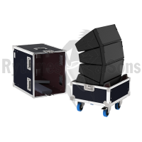 Flight cases 4 loudspeakers T10 D&B in line
