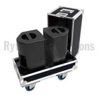 Flight cases 2 loudspeakers X8 L-ACOUSTICS