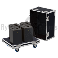 Flight cases 4 loudspeakers X8 L-ACOUSTICS